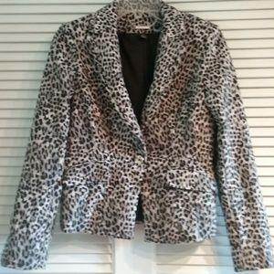 WHBM animal print blazer. Size 4